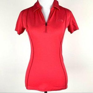 The north face top size XS red moisture wicking